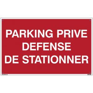 Panneaux avec message standard - Parking privé défense de stationner