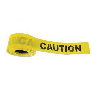 Ruban de signalisation avec texte - Caution