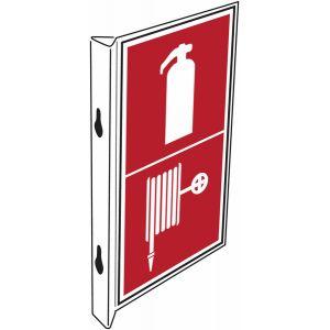 """Panneaux d'incendie combinés """"Extincteur d'incendie - Robinet d'incendie armé"""""""