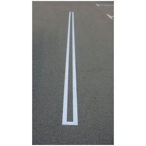 Pochoirs de marquage au sol pour parking: ligne, zébra et passage piétons