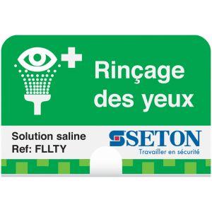 Station de lavage oculaire Saline à crochet