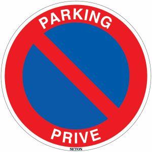 Panneau PVC - Stationnement interdit - Parking privé