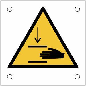 """Plaques de signalisation pour machines """"Risque d'écrasement"""""""