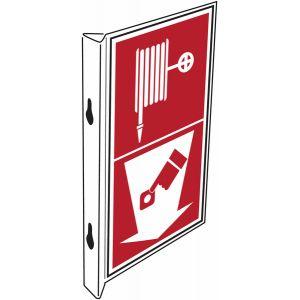 """Panneaux d'incendie combinés """"Robinet d'incendie armé - Point d'alarme incendie"""""""