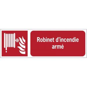 Panneaux ISO 7010 horizontaux Robinet d'incendie armé - F002
