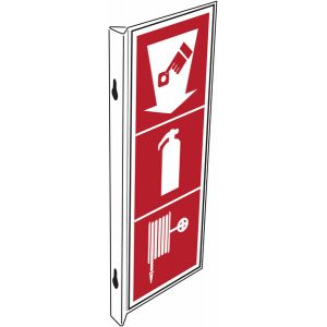 """Panneaux d'incendie combinés """"Point d'alarme incendie - Extincteur d'incendie - Robinet d'incendie armé"""""""