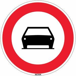 Panneau PVC - Interdit aux voitures