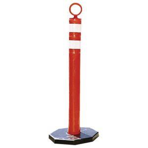 Poteau de signalisation mobile à tête ronde