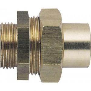 Raccords - laiton - union droit 3 pièces - à joint sphéro-conique - mâle Diamètre 18 Diamètre 15/21 BRICOZOR