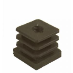 Écrou polyamide pour tube carré - 25 x 25 mm - Filetage M10 PERGA