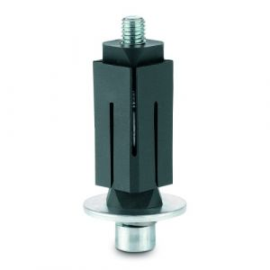 Fixations expansibles 27-30mm pour roulettes - carré - inox TENTE