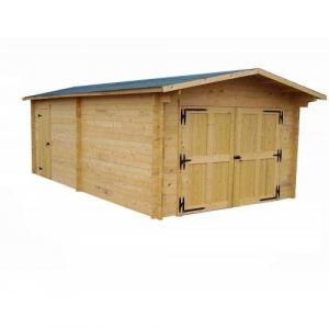 Garage en bois 19,03 m2 Vectura 3562 + montage HABRITA