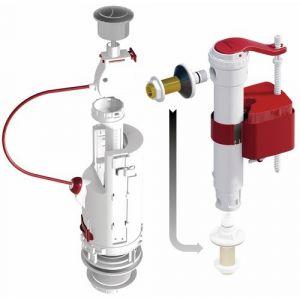 Ensemble mécanisme de chasse - soupape à étrier - CLIP 6 robinet SX DUBOURGEL