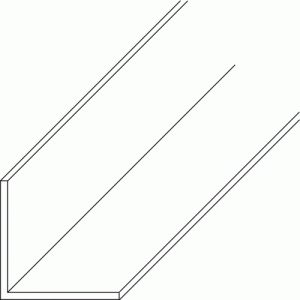 Cornière égale en PVC blanc 2,6 m-dimensions 30x30x1,4 mm PRUNIER