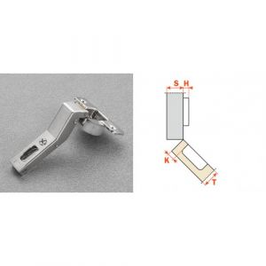 Charnières invisibles amorties 110° angle 45°-Série 700 Silentia +-en applique SALICE