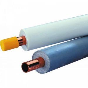 """Tube cuivre double WICU spécial climatisation - Diamètre 1/4"""" + 1/2"""" - 25 mètres KME"""