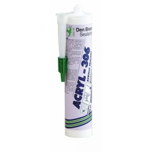 Mastic acrylique - cartouche 300 ml - blanc - Acryl 306 DEN BRAVEN
