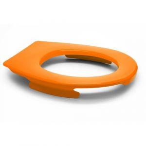 Lunette wc clipsable - 100 % hygiénique - orange PAPADO
