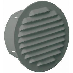 Grille de ventilation à encastrer - métal brut - diamètre 100 mm BRICOZOR