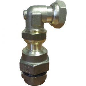 Raccord coudé - joint plat gaz - installation gaz - DN25 - FlexiClic CLESSE