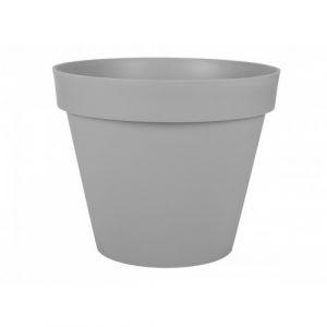 Pot rond gris béton - diamètre 100 cm - 356 litres - Toscane 13634 EDA PLASTIQUES