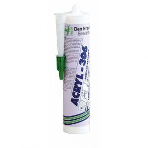 Mastic acrylique - 25 cartouches 300 ml - blanc - Acryl 306 DEN BRAVEN