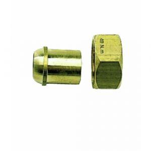 Raccord 2 pièces - gaz - jonction sphéro-conique à braser sur cuivre - écrou 26x34 - tuyau 20/22