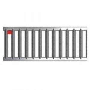 Caniveaux avec grilles passerelles - sans pentes - Hexaline 100 / Acier galvanisé ACO PASSAVANT