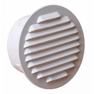 Grille de ventilation extérieur à encastrer - blanc - diamètre 120 mm BRICOZOR