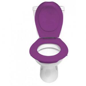 Lunette et abattant Wc clipsable - Violet PAPADO