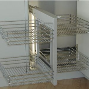 Rangement d'angle coulissant Magic Corner-gauche-P455mm-L600mm LEMI