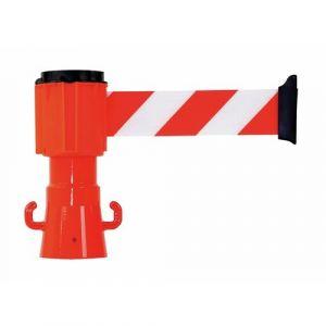 Dérouleur de sangle - pour cône de signalisation chantier - rouge/blanc rétro réfléchissant NOVAP