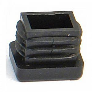 Embout plastic noir entrant-rectangulaire 27 x 40 AVL