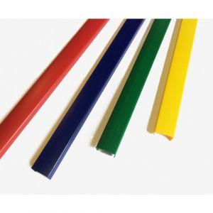 Profil d'habillage bleu - PVC - carré - panneau 16 mm - Rivcolor BRICOZOR