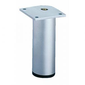 Pied de meuble aluminium rond-H120mm-argent anodisé HETTICH