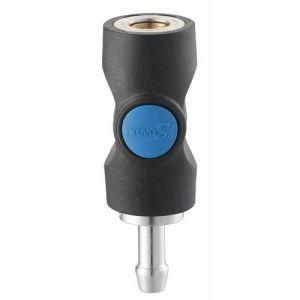 Raccord rapide pour flexible à air comprimé - gros débit - diamètre 10 mm PRÉVOST