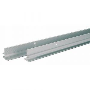 Support aluminium pour profilé caoutchouc - longueur 224 cm - 1 paire BRICOZOR