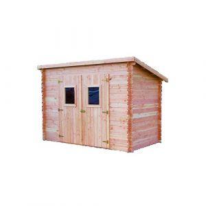 Abri DALMAT 3,00 x 1,65 m - hauteur 2,20 m - livré monté HABRITA
