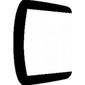 Profil d'habillage blanc - PVC - carré - panneau 22 mm - Rivcolor PRUNIER