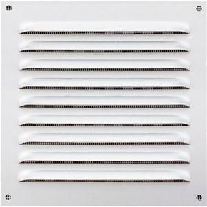 Grille de ventilation blanche avec moustiquaire - 200 x 200 mm NICOLL