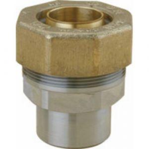Raccord circuit gaz - tuyau PE 40 mm - à souder - pour tube acier 33x42