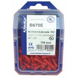 Manchon - à butée - isolée - 4-6 mm² - Jaune - B100 KLAUKE