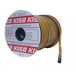 Joint de vitrage en caoutchouc alvéolaire noir - 3 x 15 mm - 100 m KISO