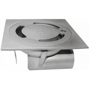 Siphon de sol en inox - 100 x 100 mm - hauteur 35 mm - sortie horizontale - Netsol ACO PASSAVANT