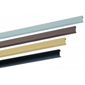 Profil d'habillage noir - PVC - carré - panneau 16 mm - Rivcolor BRICOZOR