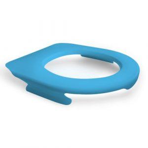 Lunette de wc suspendu clipsable - 100 % hygiénique - bleu PAPADO