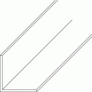 Cornière égale en PVC blanc 2,6 m-dimensions 10x10x1 mm PRUNIER