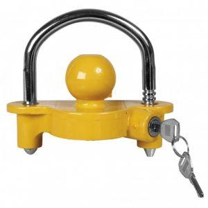 Antivol pour tête d'attelage de remorque avec clé Spotlight