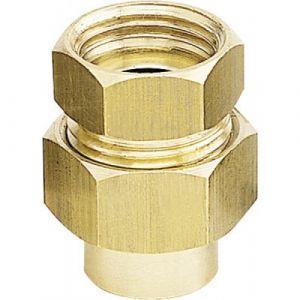 Raccord union droit 3 pièces femelle à joint sphéro-conique Diamètre 16 Diamètre 15/21 BRICOZOR