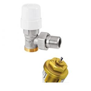 Robinet thermostatique - équerre - avec pré-réglage - 12x17 RBM